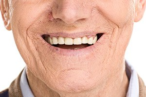 older man's smile